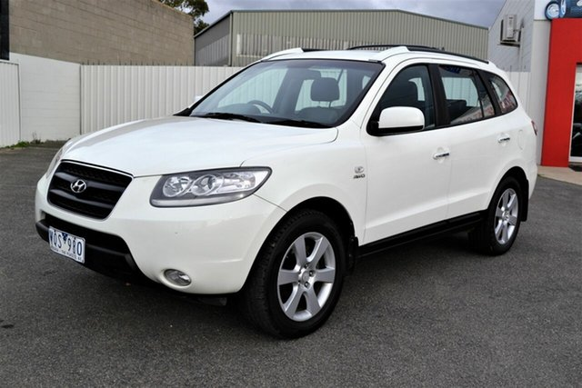 Used Hyundai Santa Fe CM MY07 Upgrade Elite CRDi (4x4), 2008 Hyundai Santa Fe CM MY07 Upgrade Elite CRDi (4x4) White 5 Speed Automatic Wagon