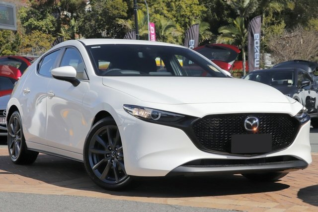 New Mazda 3 BP2HLA G25 SKYACTIV-Drive Evolve Wollongong, 2021 Mazda 3 BP2HLA G25 SKYACTIV-Drive Evolve Snowflake White Pearl 6 Speed Sports Automatic