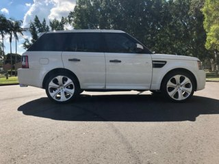 2010 Land Rover Range Rover Sport L320 10MY TDV6 White 6 Speed Sports Automatic Wagon.