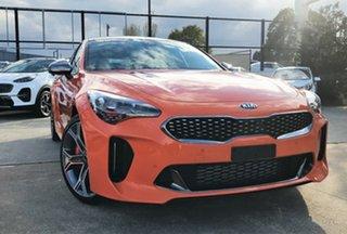 2019 Kia Stinger CK MY20 GT (Black Leather) Neon Orange 8 Speed Automatic Sedan.