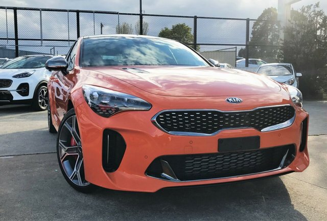 New Kia Stinger CK MY20 GT (Black Leather), 2019 Kia Stinger CK MY20 GT (Black Leather) Neon Orange 8 Speed Automatic Sedan