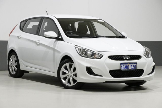 Used Hyundai Accent RB6 MY18 Sport, 2018 Hyundai Accent RB6 MY18 Sport White 6 Speed Automatic Sedan