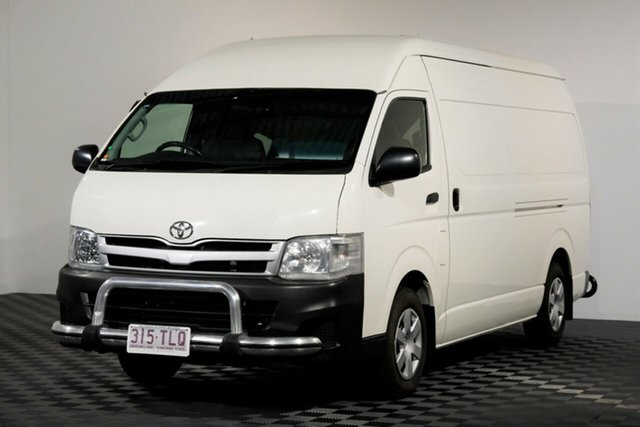 Used Toyota HiAce KDH221R MY12 Super LWB, 2013 Toyota HiAce KDH221R MY12 Super LWB White 5 Speed Manual Van