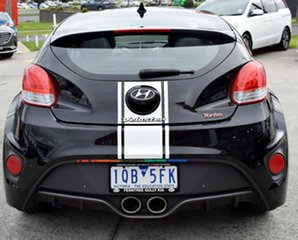 2013 Hyundai Veloster FS2 SR Coupe Turbo Black 6 Speed Sports Automatic Hatchback.