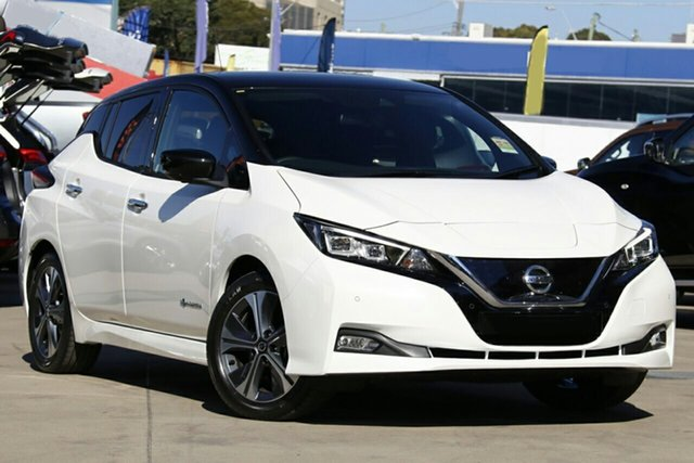 New Nissan Leaf ZE1 , 2019 Nissan Leaf ZE1 Ivory Pearl & Black Roof 1 Speed Reduction Gear Hatchback