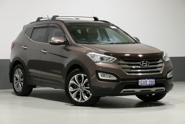 Used Hyundai Santa Fe DM Highlander CRDi (4x4), 2014 Hyundai Santa Fe DM Highlander CRDi (4x4) Grey 6 Speed Automatic Wagon