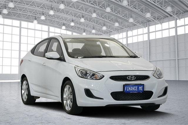 Used Hyundai Accent RB6 MY18 Sport, 2018 Hyundai Accent RB6 MY18 Sport Chalk White 6 Speed Sports Automatic Sedan