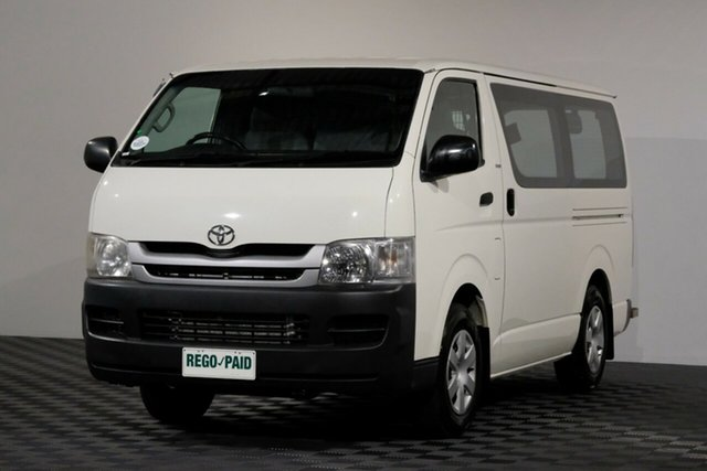 Used Toyota HiAce KDH201R MY10 LWB, 2010 Toyota HiAce KDH201R MY10 LWB French Vanilla 5 Speed Manual Van