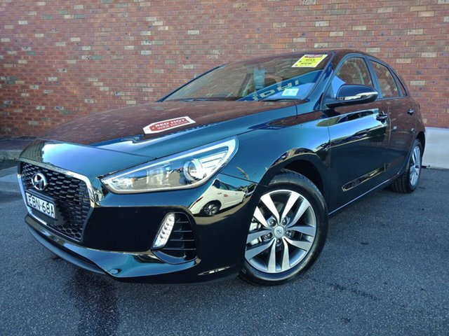 Demo Hyundai i30 PD2 MY19 Active D-CT, 2018 Hyundai i30 PD2 MY19 Active D-CT Phantom Black 7 Speed Sports Automatic Dual Clutch Hatchback