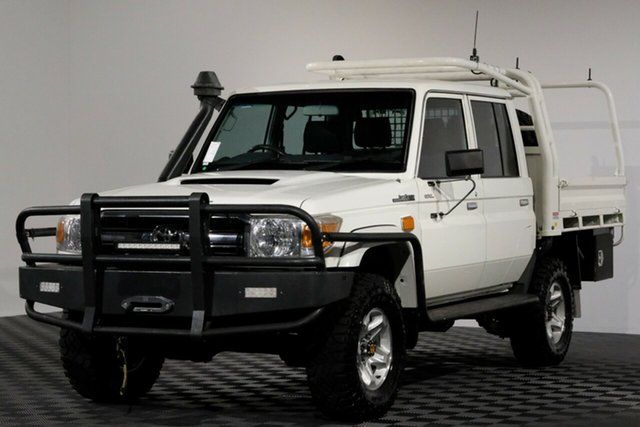 Used Toyota Landcruiser VDJ79R GXL Double Cab, 2014 Toyota Landcruiser VDJ79R GXL Double Cab French Vanilla 5 Speed Manual Cab Chassis
