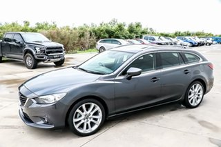 2013 Mazda 6 GJ1021 GT SKYACTIV-Drive Meteor Grey 6 Speed Sports Automatic Wagon.