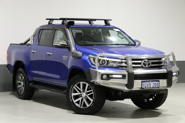 Used Toyota Hilux GUN126R SR5 (4x4), 2016 Toyota Hilux GUN126R SR5 (4x4) Blue 6 Speed Automatic Dual Cab Utility