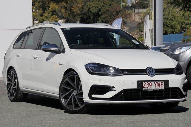 Demo Volkswagen Golf 7.5 MY18 R DSG 4MOTION, 2017 Volkswagen Golf 7.5 MY18 R DSG 4MOTION Pure White 7 Speed Sports Automatic Dual Clutch Wagon