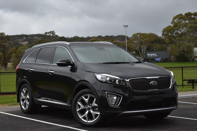 Used Kia Sorento UM MY17 Platinum AWD, 2016 Kia Sorento UM MY17 Platinum AWD Black 6 Speed Sports Automatic Wagon