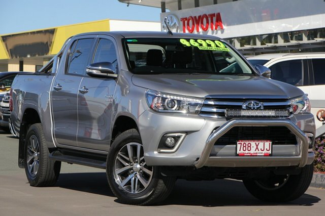 Used Toyota Hilux GUN126R SR5 Double Cab, 2017 Toyota Hilux GUN126R SR5 Double Cab Silver Sky 6 Speed Manual Utility