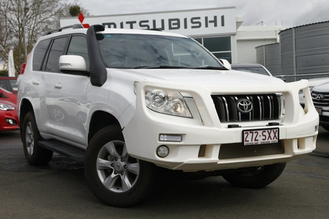 Used Toyota Landcruiser Prado KDJ150R GXL, 2012 Toyota Landcruiser Prado KDJ150R GXL White 5 Speed Sports Automatic Wagon