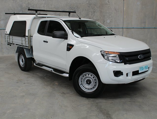 Used Ford Ranger PX XL Super Cab 4x2 Hi-Rider, 2015 Ford Ranger PX XL Super Cab 4x2 Hi-Rider White 6 Speed Sports Automatic Cab Chassis