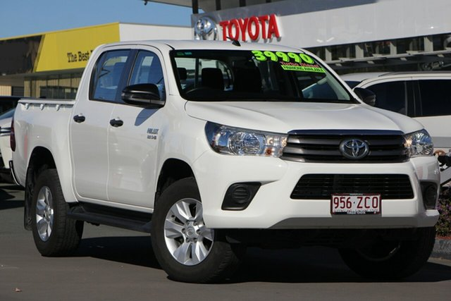 Used Toyota Hilux GUN126R SR Double Cab, 2017 Toyota Hilux GUN126R SR Double Cab Glacier White 6 Speed Sports Automatic Utility