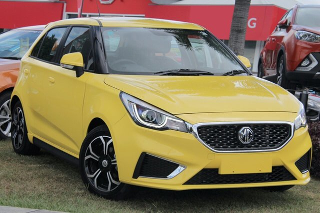 New MG MG3 SZP1 MY21 Excite Springwood, 2021 MG MG3 SZP1 MY21 Excite Yellow 4 Speed Automatic Hatchback