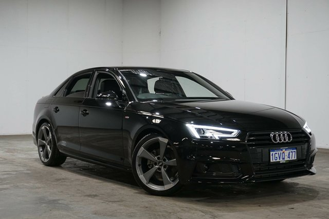 Used Audi A4 B9 8W MY18 Black Edition S Tronic, 2018 Audi A4 B9 8W MY18 Black Edition S Tronic Black 7 Speed Sports Automatic Dual Clutch Sedan