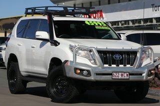 2015 Toyota Landcruiser Prado GDJ150R GXL Glacier White 6 Speed Sports Automatic Wagon.