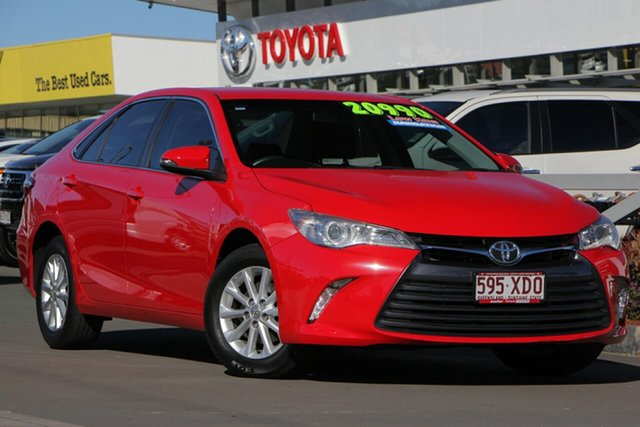 Used Toyota Camry ASV50R Altise, 2017 Toyota Camry ASV50R Altise Cherry 6 Speed Sports Automatic Sedan