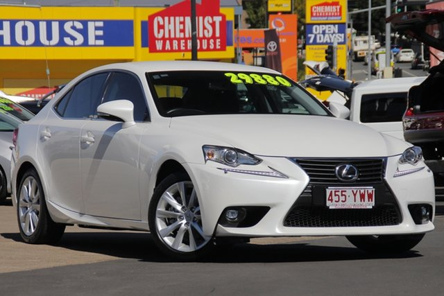Used Lexus IS250 GSE30R Luxury, 2015 Lexus IS250 GSE30R Luxury White 6 Speed Sports Automatic Sedan