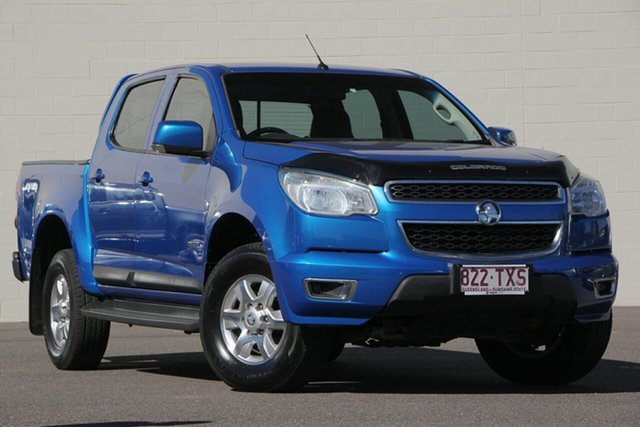 Used Holden Colorado RG MY14 LT Crew Cab, 2014 Holden Colorado RG MY14 LT Crew Cab Blue 6 Speed Manual Utility