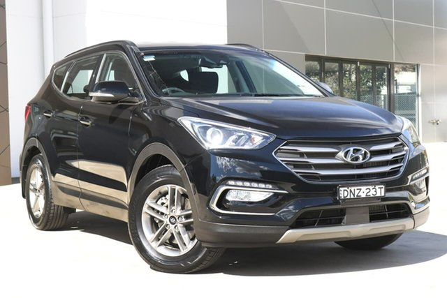 Used Hyundai Santa Fe DM3 MY17 Active, 2017 Hyundai Santa Fe DM3 MY17 Active Black 6 Speed Sports Automatic Wagon