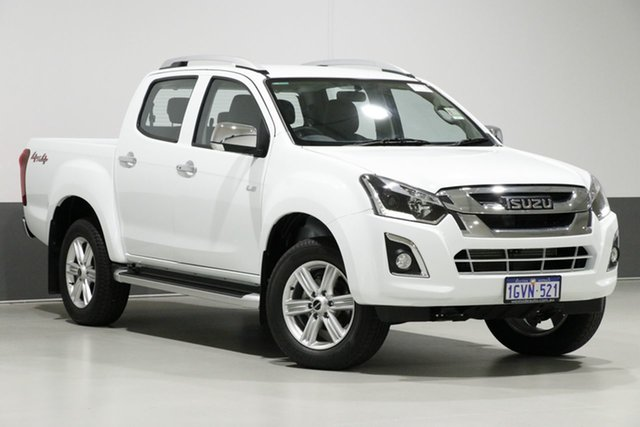 Used Isuzu D-MAX TF MY19 LS-T (4x4), 2019 Isuzu D-MAX TF MY19 LS-T (4x4) White 6 Speed Automatic Crew Cab Utility