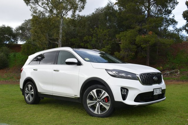 Demo Kia Sorento UM MY19 GT-Line AWD, 2019 Kia Sorento UM MY19 GT-Line AWD Snow White Pearl 8 Speed Sports Automatic Wagon