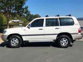 2004 Toyota Landcruiser UZJ100R GXL White 5 Speed Automatic Wagon
