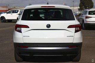 2019 Skoda Karoq NU MY19 110TSI DSG FWD White 7 Speed Sports Automatic Dual Clutch Wagon