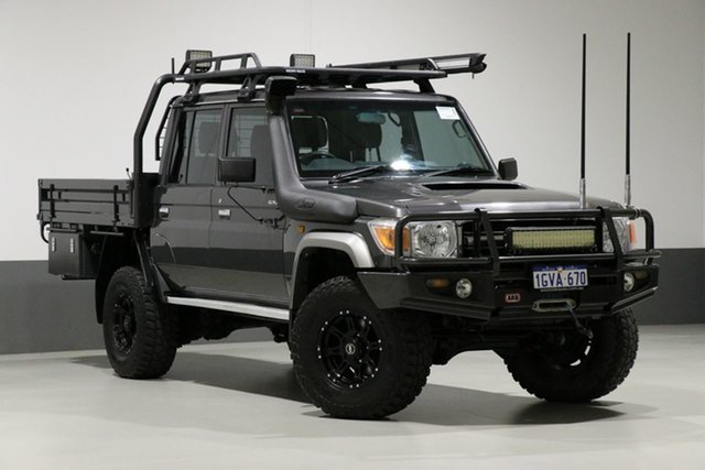 Used Toyota Landcruiser VDJ79R MY12 Update GXL (4x4), 2013 Toyota Landcruiser VDJ79R MY12 Update GXL (4x4) Graphite 5 Speed Manual Double Cab Chassis
