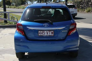 2015 Toyota Yaris NCP130R Ascent Tidal Blue 4 Speed Automatic Hatchback