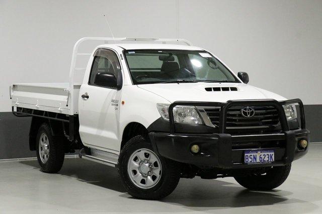 Used Toyota Hilux KUN26R MY12 SR (4x4), 2012 Toyota Hilux KUN26R MY12 SR (4x4) White 5 Speed Manual Cab Chassis