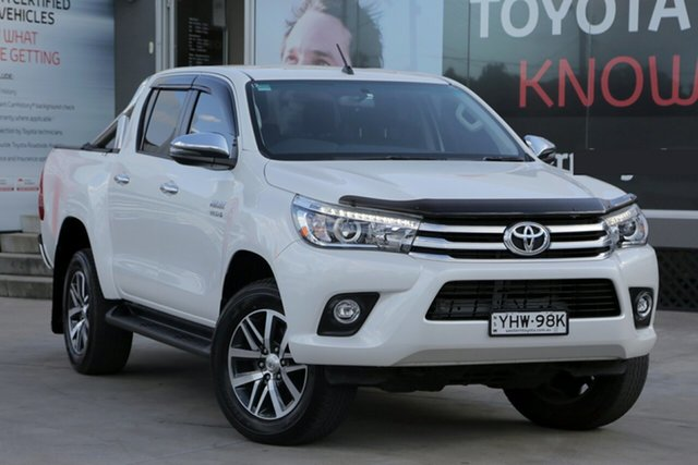 Used Toyota Hilux GUN126R MY19 SR5 (4x4), 2018 Toyota Hilux GUN126R MY19 SR5 (4x4) Pearl White 6 Speed Automatic Double Cab Pickup