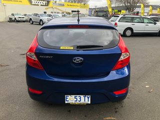 2015 Hyundai Accent RB3 MY16 Active Dazzling Blue 6 Speed Constant Variable Hatchback