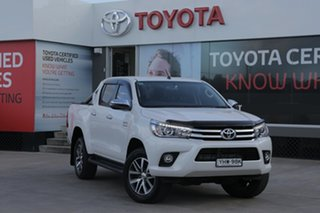 2018 Toyota Hilux GUN126R MY19 SR5 (4x4) Pearl White 6 Speed Automatic Double Cab Pickup.