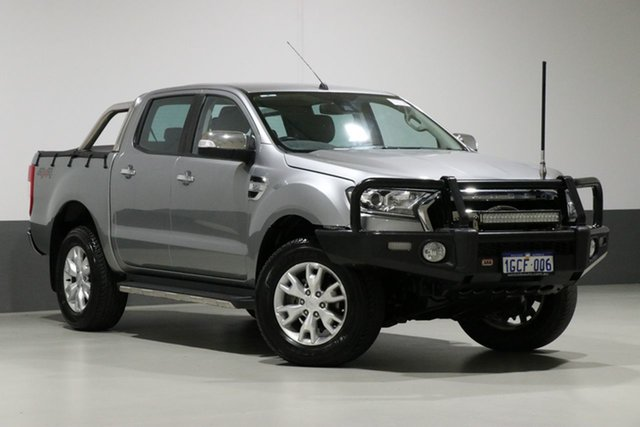 Used Ford Ranger PX MkII XLT 3.2 (4x4), 2016 Ford Ranger PX MkII XLT 3.2 (4x4) Silver 6 Speed Automatic Dual Cab Utility