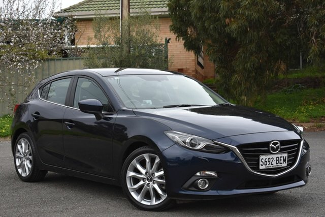 Used Mazda 3 BM5438 SP25 SKYACTIV-Drive GT, 2014 Mazda 3 BM5438 SP25 SKYACTIV-Drive GT Blue 6 Speed Sports Automatic Hatchback