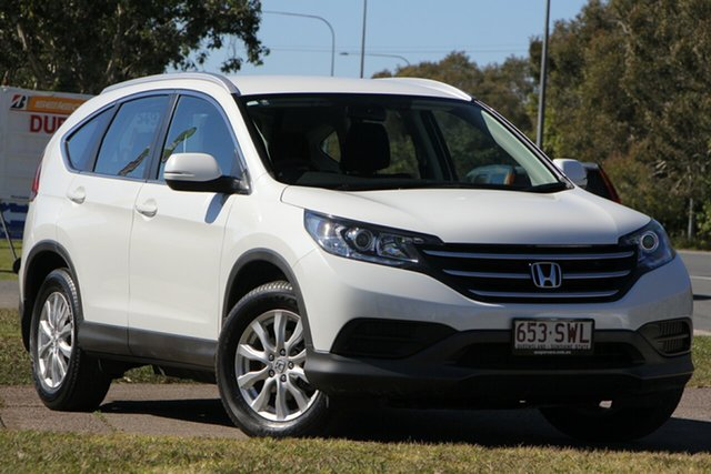 Used Honda CR-V RM MY14 VTi 4WD, 2013 Honda CR-V RM MY14 VTi 4WD White 5 Speed Sports Automatic Wagon