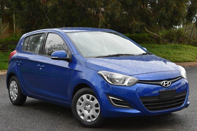 Used Hyundai i20 PB MY14 Active, 2014 Hyundai i20 PB MY14 Active Blue 4 Speed Automatic Hatchback