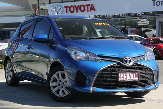 Used Toyota Yaris NCP130R Ascent, 2015 Toyota Yaris NCP130R Ascent Tidal Blue 4 Speed Automatic Hatchback