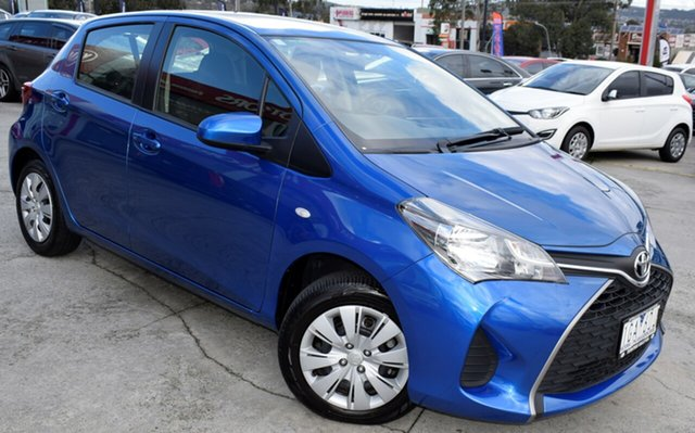 Used Toyota Yaris NCP130R Ascent, 2015 Toyota Yaris NCP130R Ascent Blue 4 Speed Automatic Hatchback