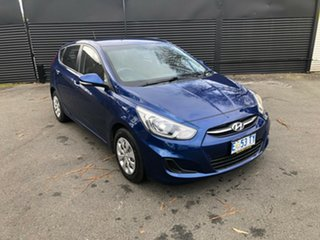 2015 Hyundai Accent RB3 MY16 Active Dazzling Blue 6 Speed Constant Variable Hatchback.