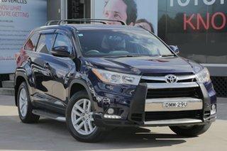 2015 Toyota Kluger GSU50R GX Blue 6 Speed Automatic Wagon.