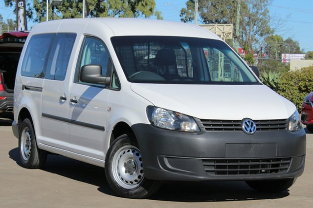 Used Volkswagen Caddy 2KN MY15 TDI250 BlueMOTION Maxi DSG, 2014 Volkswagen Caddy 2KN MY15 TDI250 BlueMOTION Maxi DSG White 7 Speed Sports Automatic Dual Clutch