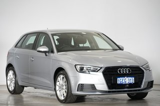 2016 Audi A3 8V MY17 Sportback S Tronic Silver 7 Speed Sports Automatic Dual Clutch Hatchback