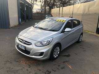 2015 Hyundai Accent RB3 MY16 Active Sleek Silver 6 Speed Constant Variable Hatchback.